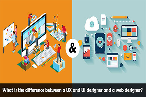 What is the difference between a UX and UI designer and a web designer?